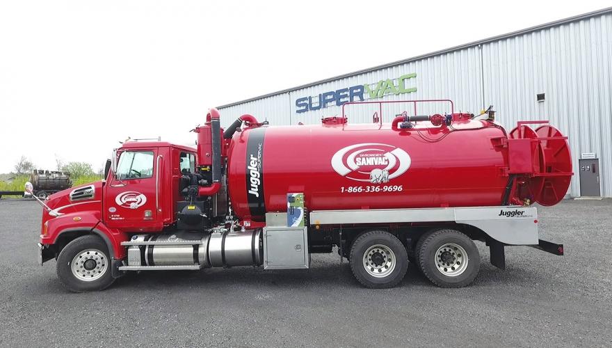 septic truc liquid solid separation system