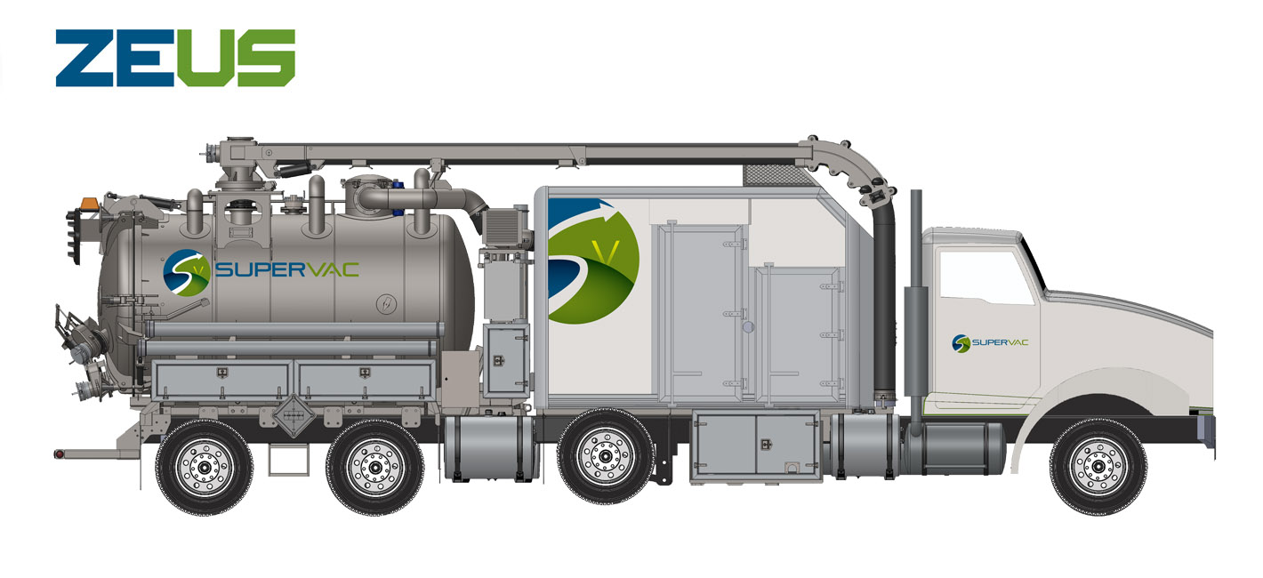 Hydrovac truck for air and hydro-excavation 3000 PSI Hercule model